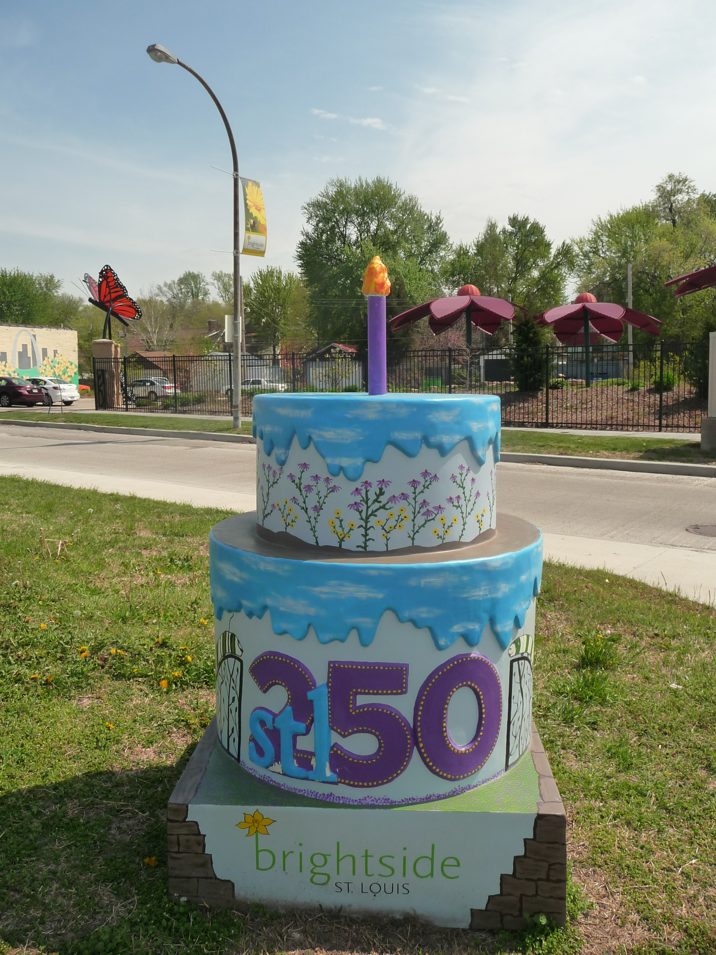 Peachy St Louis Turns 250 Brightside Celebrates With Cakeway To The West Personalised Birthday Cards Arneslily Jamesorg